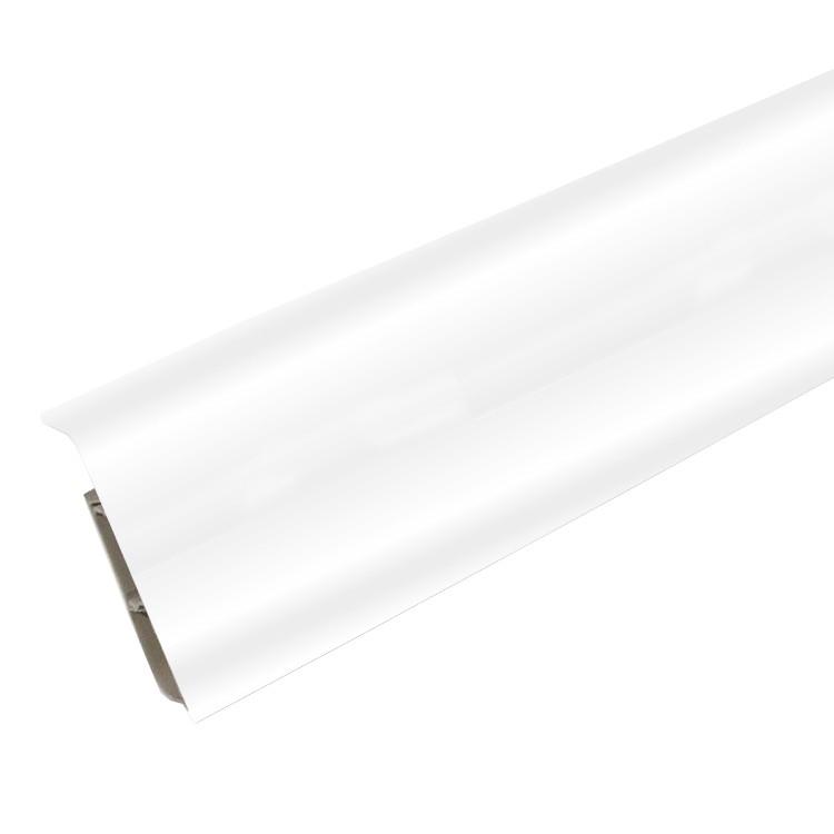 Плинтус ПВХ Ideal Система С80 001 белый 2200х80х22 мм