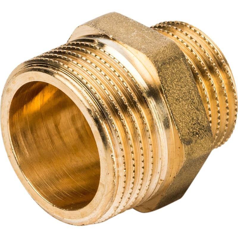 Ниппель переходной Stout SFT-0003-003412 3/4х1/2 дюйма с наружной резьбой