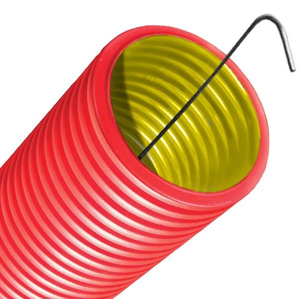 Труба ПНД гофрированная DKC 121963 d63 мм двустенная с протяжкой