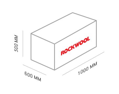 Базальтовая вата Rockwool Лайт Баттс 1000х600х100 мм