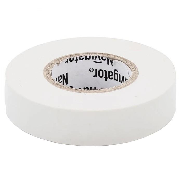 Изолента ПВХ Navigator 15 мм белая NIT-B15-20/WH