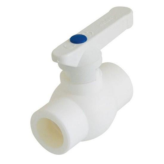 Кран шаровой Политэк 446528 PPR D20 мм полнопроходной пластиковый