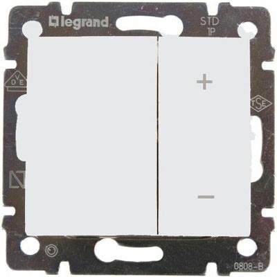 Механизм светорегулятора Legrand Valena 770074 600 Вт нажимной белый