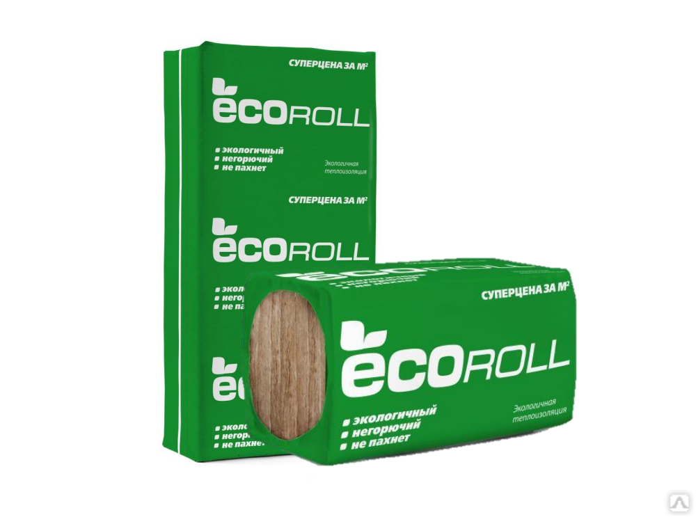 Теплоизоляция EcoRoll Плита 040 1230х610х100 мм