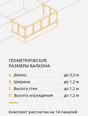 Набор для теплоизоляции Gyproc Теплый Балкон