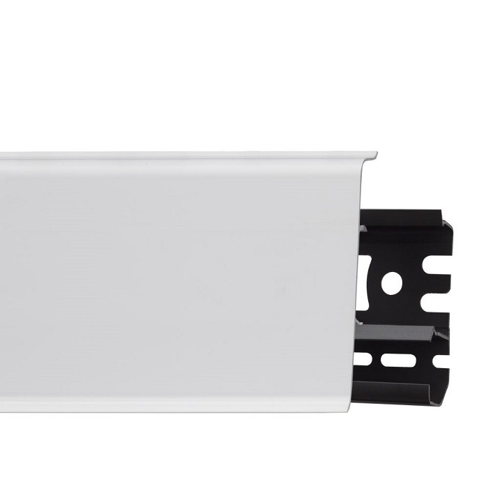 Плинтус ПВХ Arbiton Indo 40 белый матовый 2500х70х26 мм