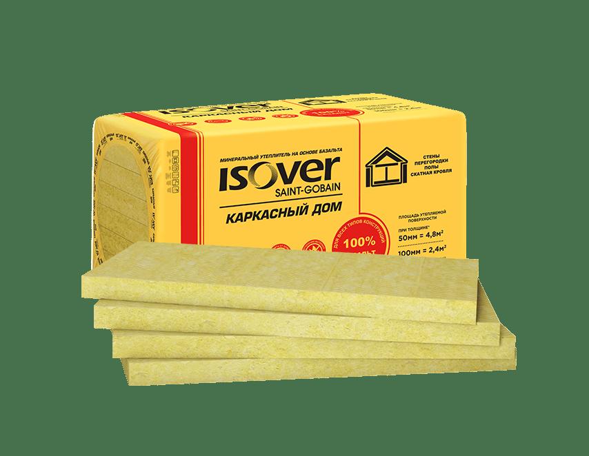 Базальтовая вата Isover Каркасный Дом 1000х600х100 мм