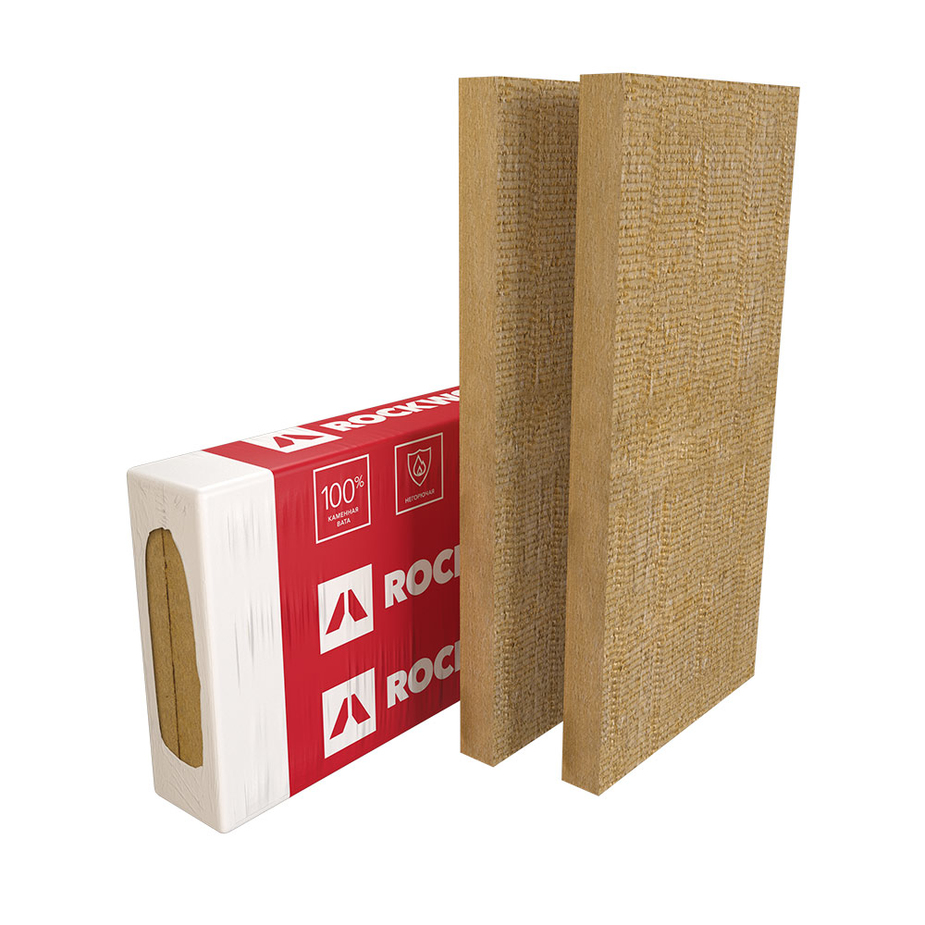 Базальтовая вата Rockwool Фасад Баттс Оптима 1000х600х100 мм