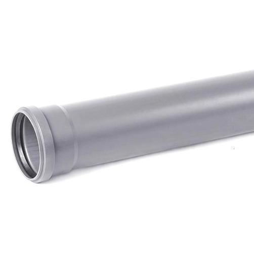 Труба канализационная ПВХ Хемкор Ду 110х3,2х1000 мм с кольцом
