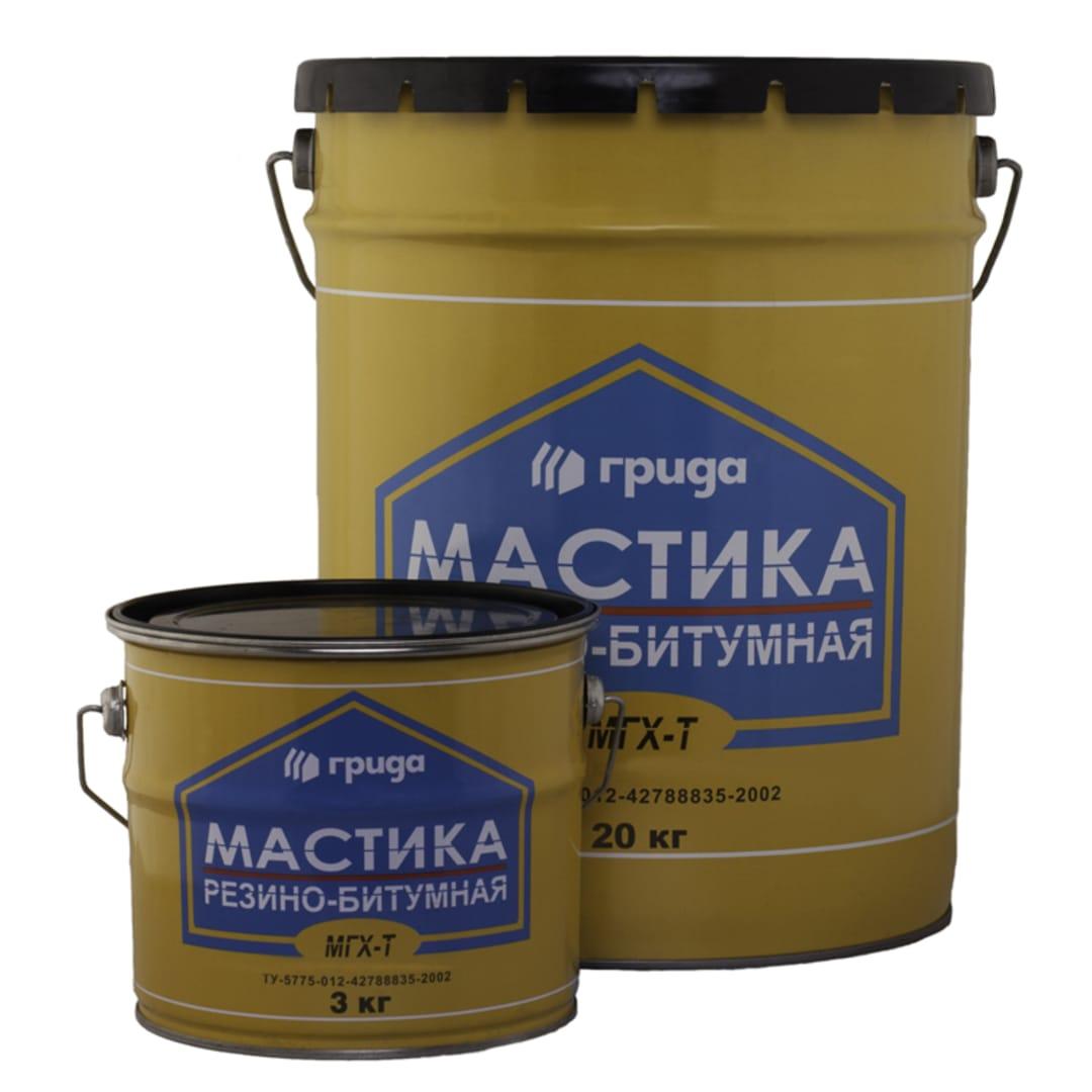 Мастика резино-битумная Грида МГХ-Т 21 кг
