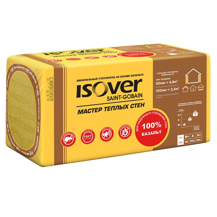 Базальтовая вата Isover Мастер Теплых Стен 1000х600х50 мм