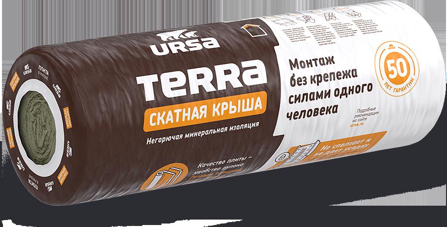 Теплоизоляция Ursa Terra 35 QN Скатная крыша 4500х1200х100 мм