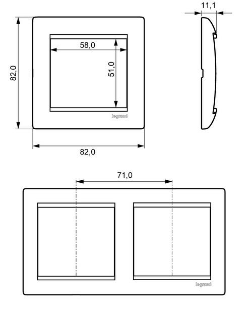 Рамка четырехместная Legrand Valena 774454 горизонтальная белая