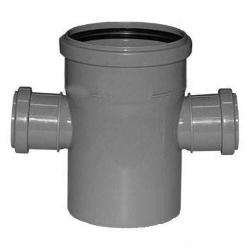 Крестовина канализационная двухплоскостная ПП 110х50х50х110 мм 90 градусов с кольцом