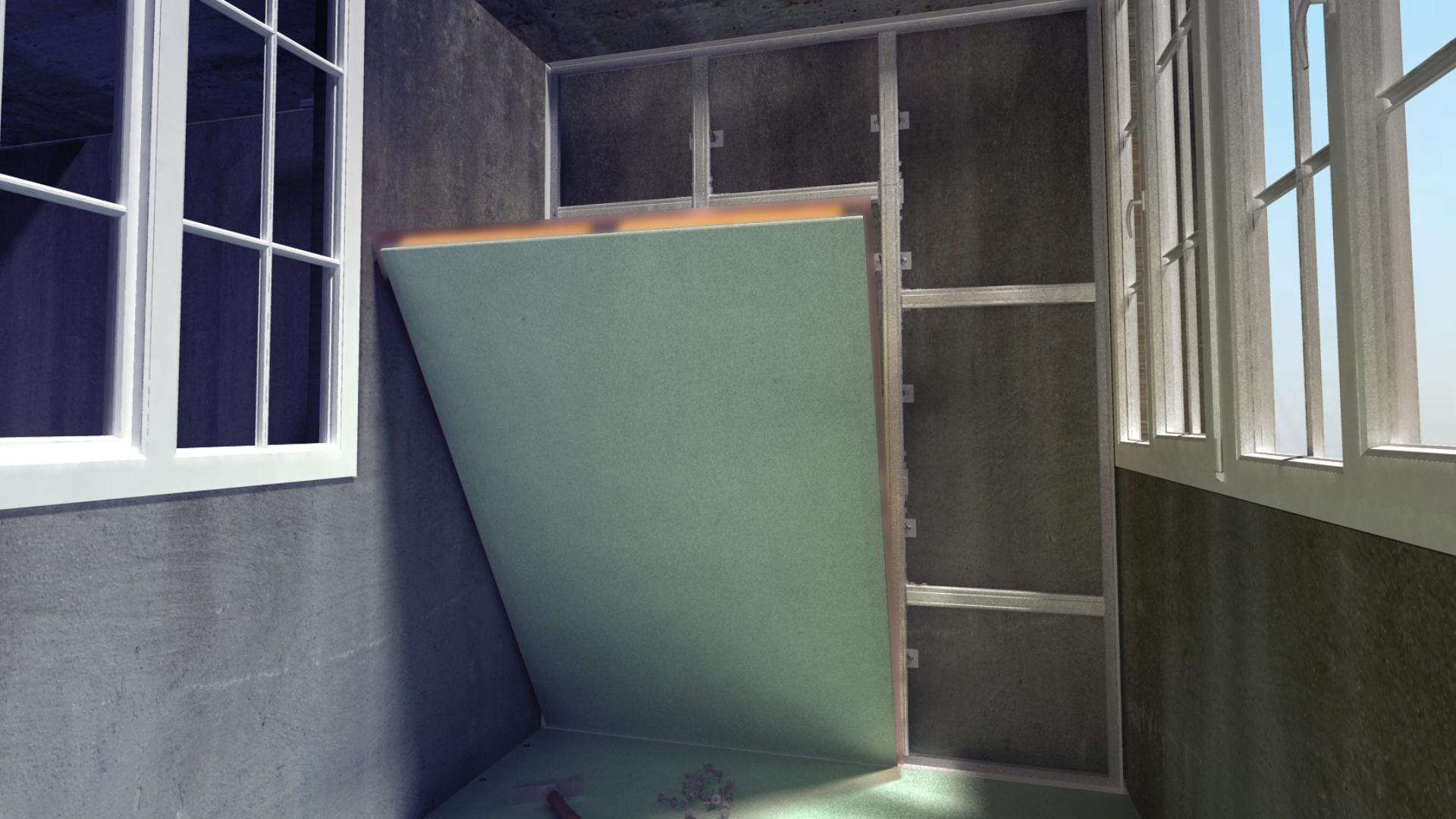 Панель теплоизоляционная Gyproc Теплый балкон 1200х900х110 мм