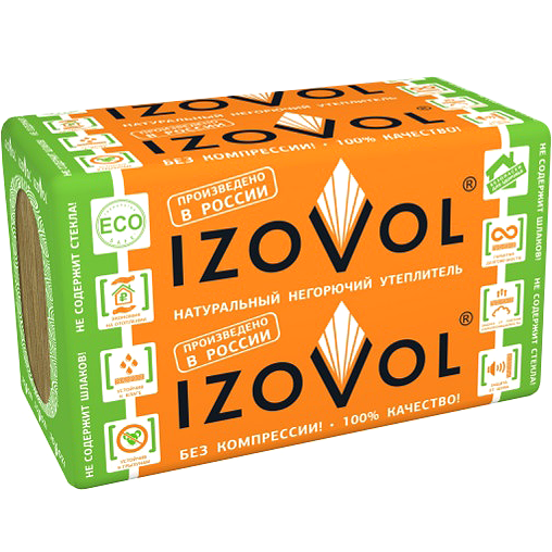 Теплоизоляция Izovol Ф-100 1000×600х50 мм