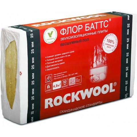 Базальтовая вата Rockwool Флор Баттс 1000х600х25 мм