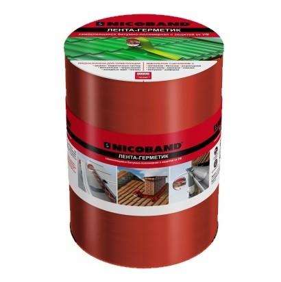 Лента герметизирующая Nicoband 3000х150 мм красная самоклеящаяся