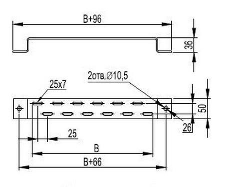 Скоба TM для крепления лотка 100 ДКС BMM1010 30690