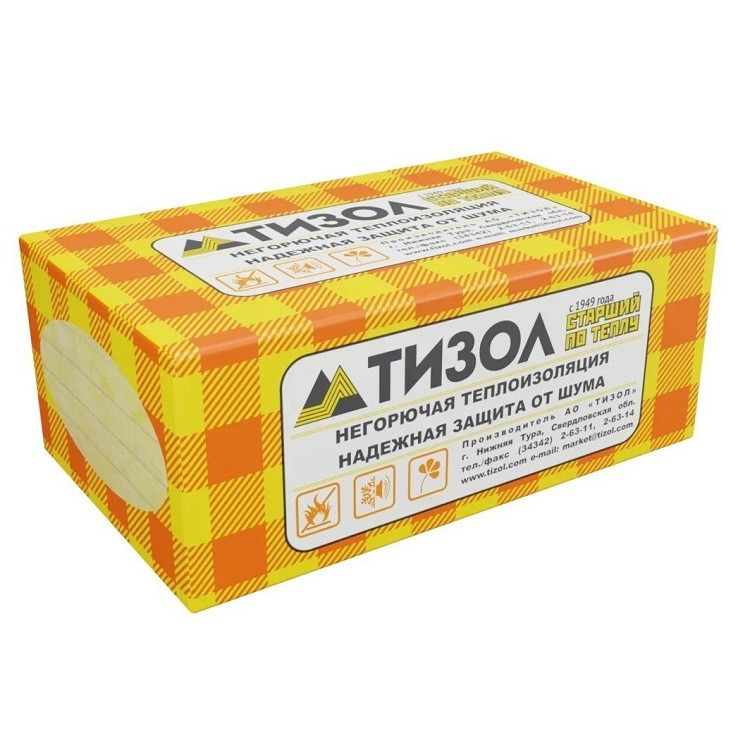 Базальтовая вата ТИЗОЛ Euro-Вент 1000x600x100 мм